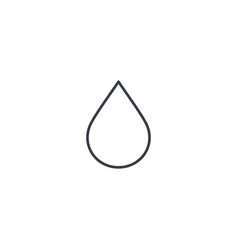 water drop thin line icon linear symbol vector image