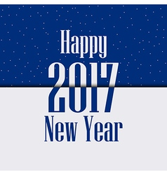 2017 Happy New Year Celebratory background with sp vector image