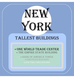 New york tallest buildings icon flat vector