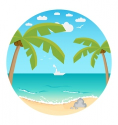 beach summer background vector image