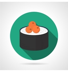 Sushi roll flat icon vector