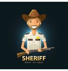 Sheriff logo design template police lapd vector