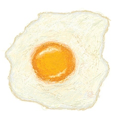 Closeup of a freshly cooked sunny side up fried vector