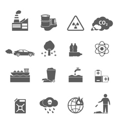 Ecology problems icons set vector
