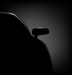 Car silhouette on a black background vector