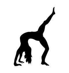 Yoga silhouette black vector