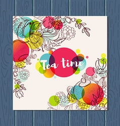 Tea time design banner templates set vector