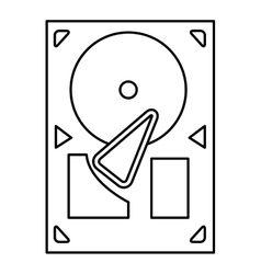 Black line gramophone icon vector