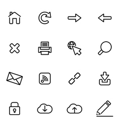 Thin line icons - web vector