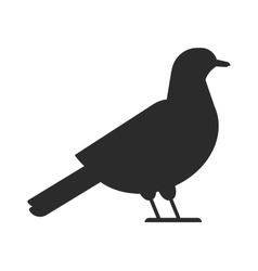 Bird black silhouette vector image