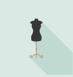 black mannequin icon in flat design vector image vector image