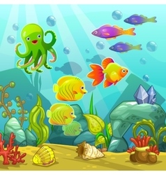 Cartoon underwater landscape vector image