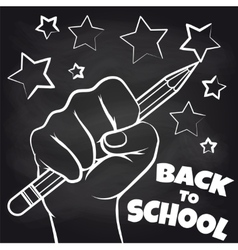 Chalkboard back to scool sketch vector image