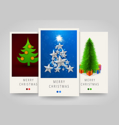 christmas and new years modern vertical banners vector image vector image