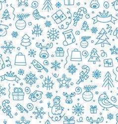 Christmas season seamless pattern vector