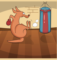 cute kangaroo engaged in active sports vector image