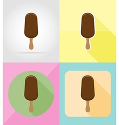 ice cream flat icons 04 vector image vector image