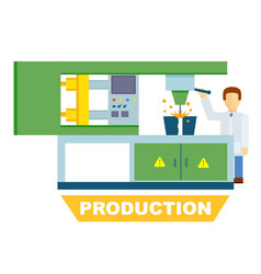 Industrial production isolated concept vector
