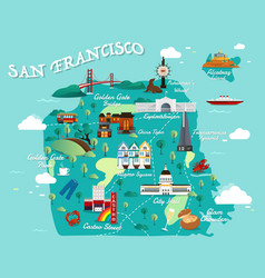 map of san francisco vector image vector image