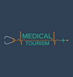 Medical tourism background vector