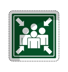 Meeting point sign icon vector