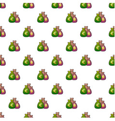 Money bag pattern vector