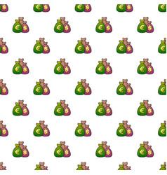 money bag pattern vector image