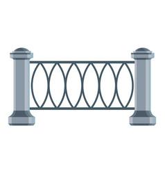 Park fence icon cartoon style vector