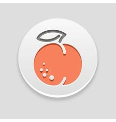 Peach icon fruit vector