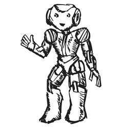 robotic vector image