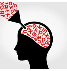 Science head5 vector image
