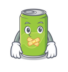 silent soft drink character cartoon vector image