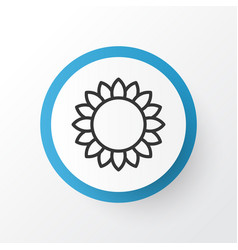 sunflower icon symbol premium quality isolated vector image