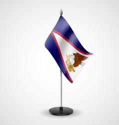 Table flag of american samoa vector