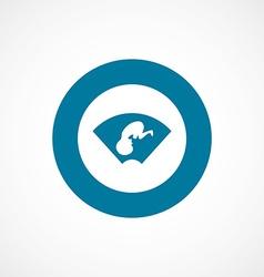 Ultrasound baby bold blue border circle icon vector