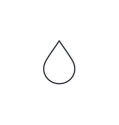 water drop thin line icon linear symbol vector image