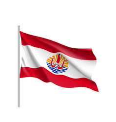 Waving flag of french polynesia vector