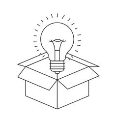 Isolated big idea draw design vector image