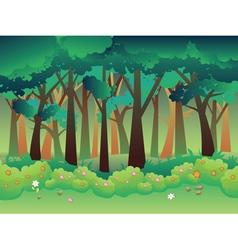 Green summer forest2 vector