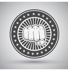 Clenched fist icon vector