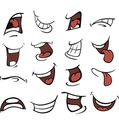 Set of mouths cartoon vector