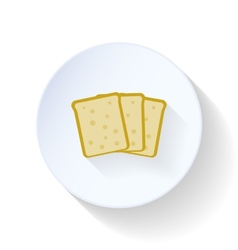 Bread flat icon vector