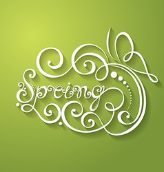 Fancy lettering design vector