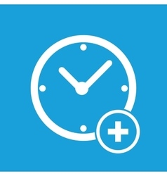 Add time icon vector image
