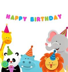 Birthday Animals vector image
