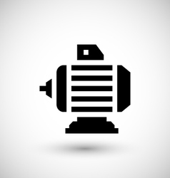Electric motor icon vector