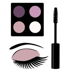 eye mascara vector image