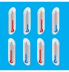 Outdoor thermometer hot and cold temperature vector