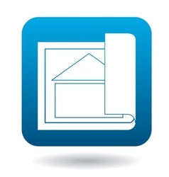 House project icon simple style vector
