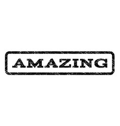 amazing watermark stamp vector image